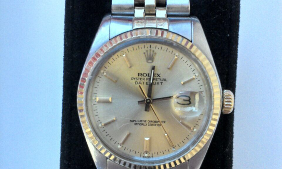 Stahlgold Herren Armbanduhr
