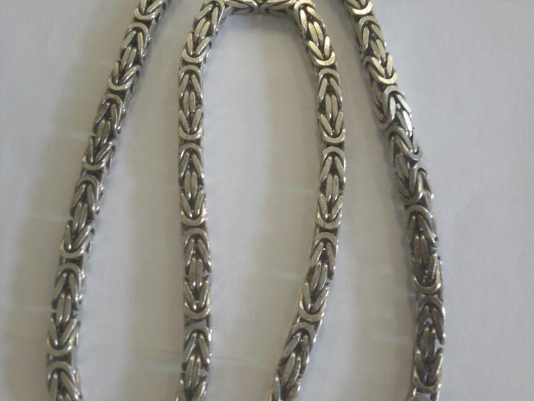 Silberne Königskette