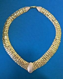 Goldenes Collier 22ct