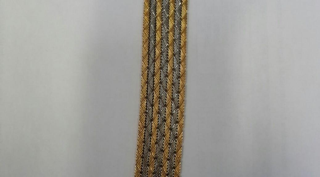 Goldenes breites Armband zweifarbig