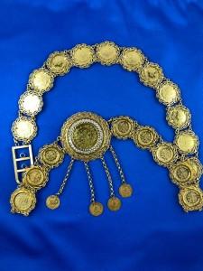Goldgürtel mit div. Münzen