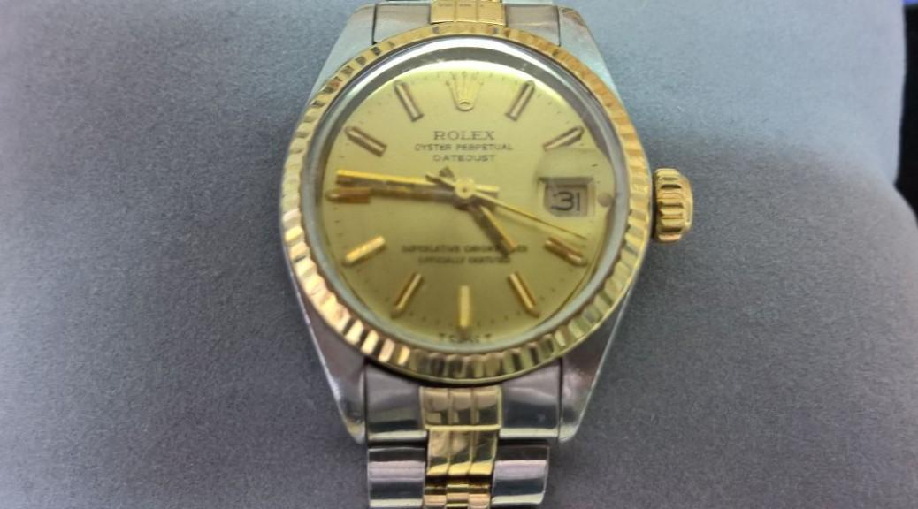 Stahlgold Damen Armbanduhr ROLEX Datejust