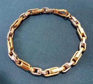 Gold-/Weißgoldenes Armband
