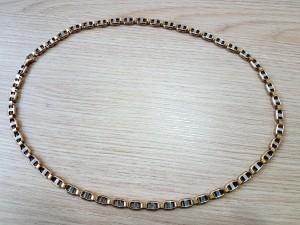 Gold-/Weißgoldene Halskette