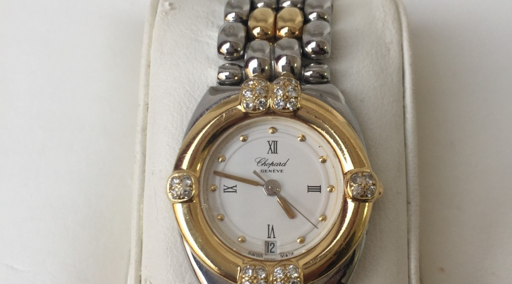 Stahlgoldene Damen Armbanduhr Chopard Gstaad Quarz