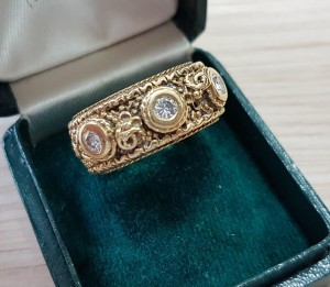 Gold Ring mit Brillanten