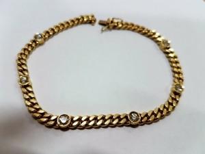 Goldenes Brillantarmband