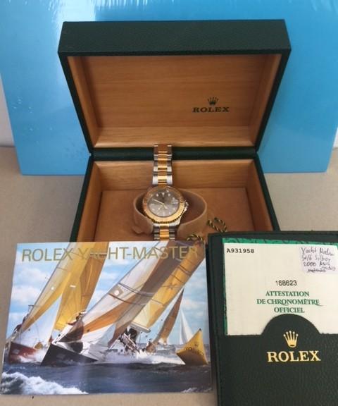 Stahl/Goldene Damenuhr ROLEX Yacht-Master