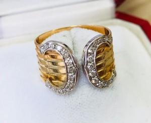 Goldener Cartier Ring mit Brillanten