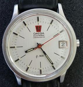 Stahl Uhr Omega f300