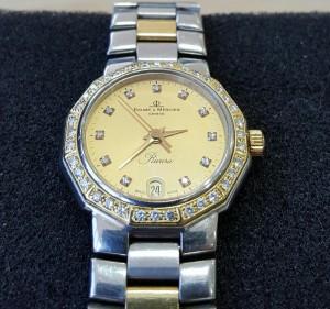 Stahlgoldene Uhr Baume & Mercier Riviera