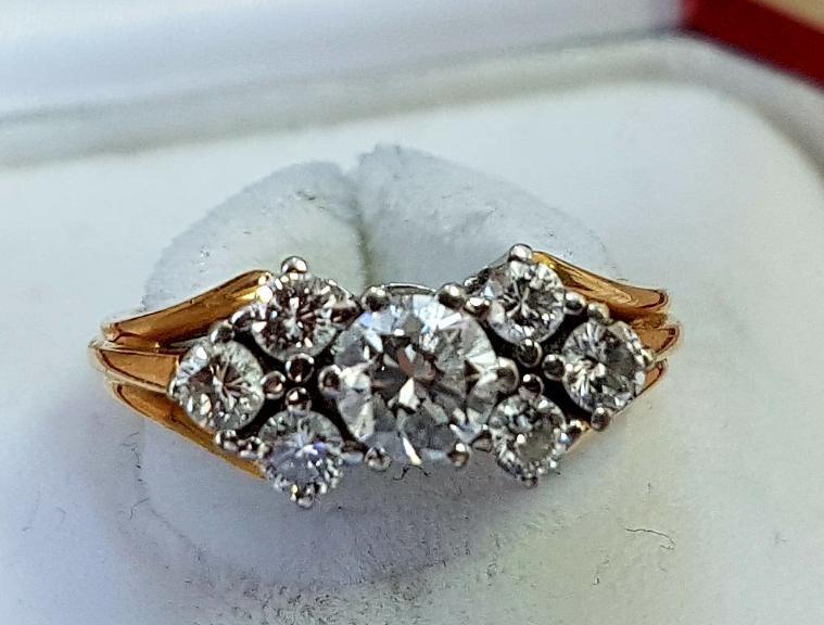 Goldener Brillant Ring
