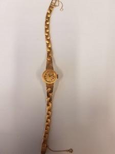 Goldene Damenarmbanduhr Certina