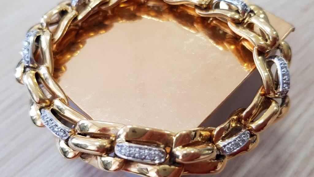 Weißgold/Gold Armband