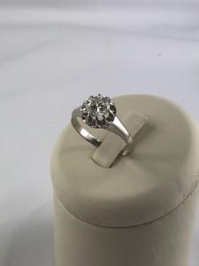 Weißgoldener Ring mit Brillant
