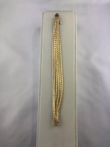 Goldarmband vierreihig