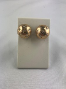 Paar goldene Ohrstecker
