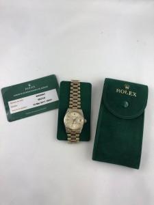 Weißgoldene Armbanduhr ROLEX Datejust
