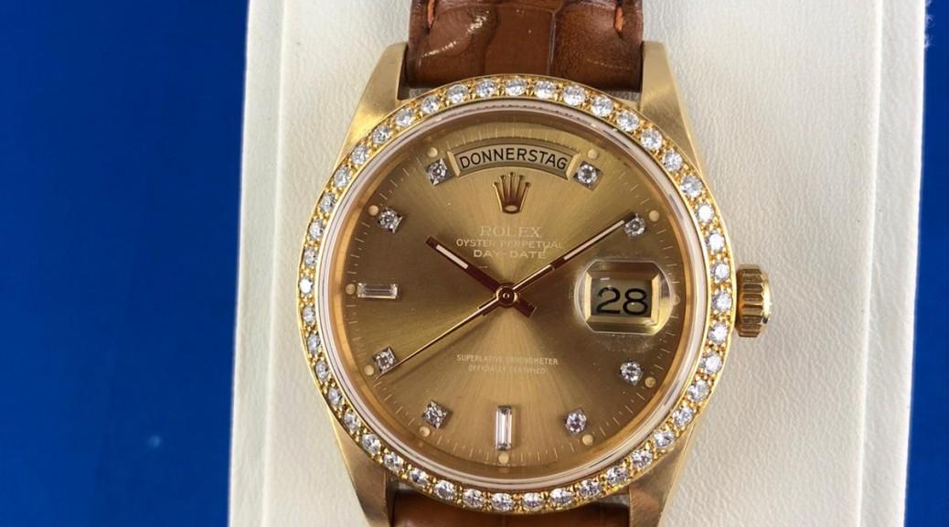 Goldene Uhr ROLEX DayDate