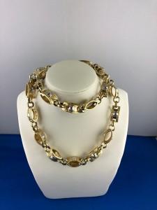 Goldene/weißgoldene Halskette