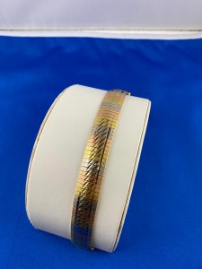 Dreifarbiges Goldarmband