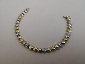 Gold-/ Weißgoldarmband