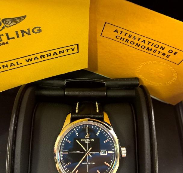 Breitling Stahl Herren Armbanduhr Transocean