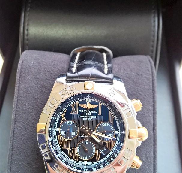 Breitling Stahlgold Herren Armbanduhr IB0110